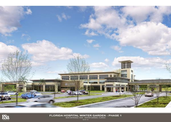 fh wintergarden main view rendering_600 renderings of florida hospitals - Florida Hospital Winter Garden