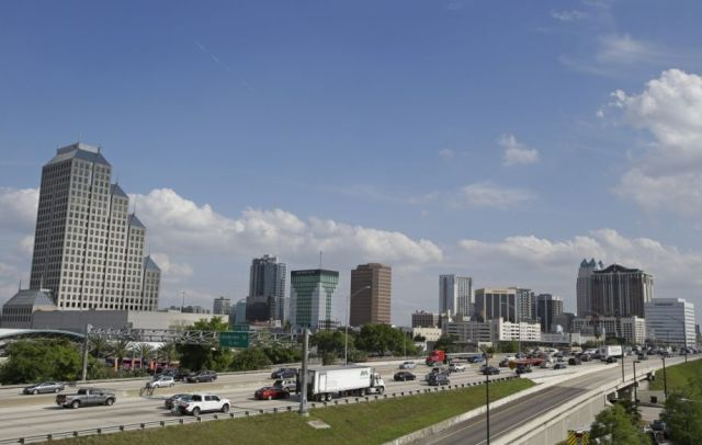 I-4 in downtown Orlando
