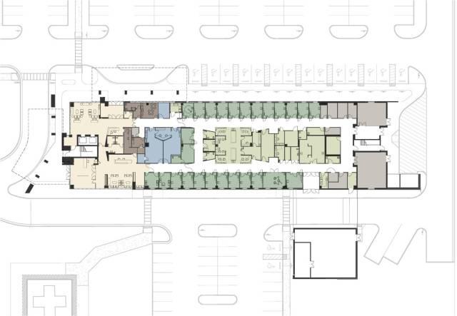First floor plan, emergency department